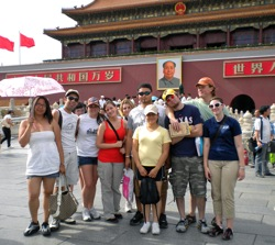2009 students in Beijing in front of Forbidden City